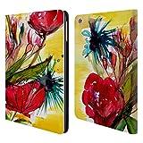 Head Case Designs Offizielle Mai Autumn Abstrakt Blumiges Bouquet Brieftasche Handyhülle aus Leder für iPad Air (2013)