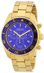 Nautec No Limit Herren-Armbanduhr XL Deep Sea Chronograph Quarz Edelstahl beschichtet DS QZ/GDGDBLBL