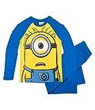Minions Pyjama Langarm Kollektion 2016 (152, Blau ein Auge)