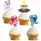 PARTY PROPZ SHIMMER & SHINE THEME CUP CAKE TOPPER PACK OF 14/ SHIMMER AND SHINE PARTY SUPPLIES