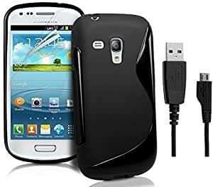 S Line Grip Back Case Cover for Samsung Galaxy S Duos 2 S7582 - (Value for Money Combo Pack)