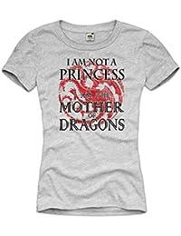 style3 Mère des Dragons Femme T-Shirt mother of dragons khaleesi thrones of game targaryen