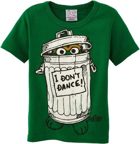 Logoshirt Sesame St. - Oscar - I Don't Dance Kurzarm Jungen T-Shirt,Grün - Vert (Green), 10-12 Jahre (Herstellergröße:140/152)