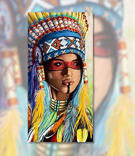 Gaepni Malen nach Zahlen Kunst Malen nach Zahlen DIY digitaler Malerei Charakter nationales traditionelles Kostüm