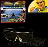 pinksocks Big Vision Brille Lupe AS SEEN ON TV 160% Vergrößerung Eye Wear Hilfe HD, farblos