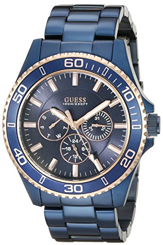 GUESS Men's U0172G6 Iconic Blue Multi-Function Watch