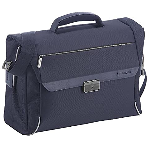 Samsonite Spectrolite Briefcase 2 Gussets 16 Pouces, 44 cm, 22 L, Blue (Samsonite Schultertasche)
