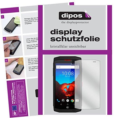 dipos I 6X Schutzfolie klar passend für Crosscall Trekker-X3 Folie Bildschirmschutzfolie