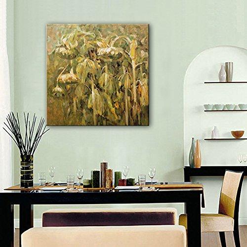 ZSH Semi di girasole dipinto a mano olio pittura, cornice