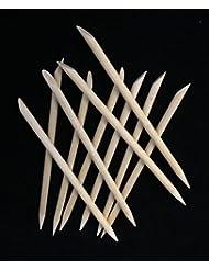 10 Rosenholzstäbchen, Nagelhautschieber,Rührstäbchen,Holzstäbchen, 11,5 cm, Manikürstäbchen, Maniküre, Nägel