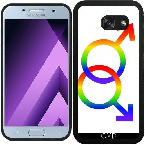 Preisvergleich Produktbild SilikonHülle für Samsung Galaxy A3 2017 (SM-A320) - Lgbt Homosexuell - 2 Mars Symbole by loki1982
