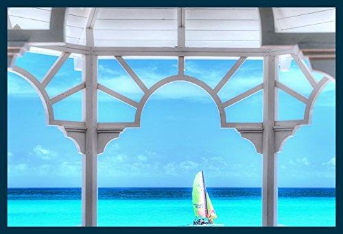 Bild mit Rahmen Khandani 1 - HDR - WHITA PAVILLION AT A CARRIBEAN BEACH - VARADERO - CUBA 9 -...
