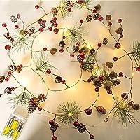 createjia Luces De Cadena Luces De Navidad Luces LED De Cobre Luces De Cadena De Cono De Pino Para El Árbol De Navidad Y El Hogar Decoración De La Boda De Halloween Alambre Led De Interior Luciérnaga