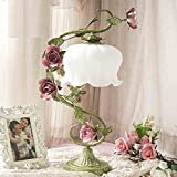 Rose Hochzeit Tischlampe Schlafzimmer Nachttischlampe kreative Hochzeitsgeschenke alten Vintage schmiedeeisernen Gartendekoration Lampe tun
