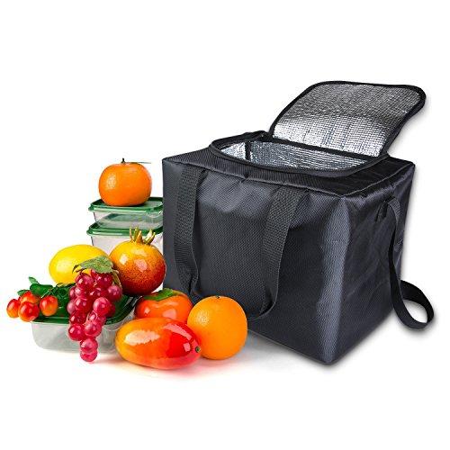 Kühltasche Faltbar 30 Liter Isoliertasche zu Keep heißen und kalten Speisen, tragbar wasserabweisend aufbewahrungstasche, Ideal lunch tasche für Camping & Picknick (Schrank Warme Speisen)