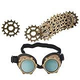 Baoblaze Punk Brille Viktorianischen Brille Cosplay Kleiderschrank Retro Getriebe Anhänger Handwerk