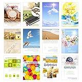 Edition Seidel Set 24 Kommunionskarten mit Umschlag (2x12) - Glückwunschkarte zur Kommunion - Kommunionskarte - Set Kartenset (Klappkarten mit Briefumschlag)
