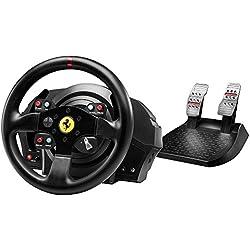 Thrustmaster - T300 Ferrari GTE - Volant à retour de force réplique 7/10 de la Ferrari 458 Challenge - PS4/PS3/PC