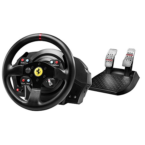 Thrustmaster T300 Ferrari GTE Wheel (Lenkrad inkl. 2-Pedalset, Force Feedback, 270° - 1080°, Eco-System, PS4 / PS3 / PC) -
