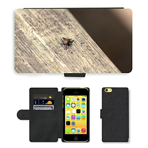 Just Mobile pour Hot Style Téléphone portable étui portefeuille en cuir PU avec fente pour carte//m00138612Moustiquaire Fermeture//Apple iPhone 5C