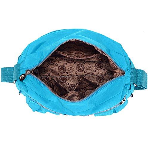 MeCooler Umhängetasche Damen Kuriertasche Leichter Messenger Bag Wasserdicht Taschen Designer Schultertasche Mode Sporttasche für Reisetasche Rot 2