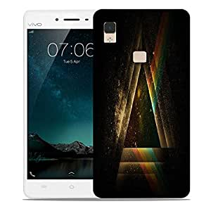Snoogg Abstract Triangle Designer Protective Phone Back Case Cover For Vivo V3 Max