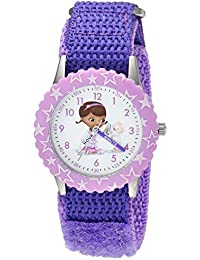 Disney Girl's 'Doc Mcstuffins' Quartz Stainless Steel and Nylon Casual Watch