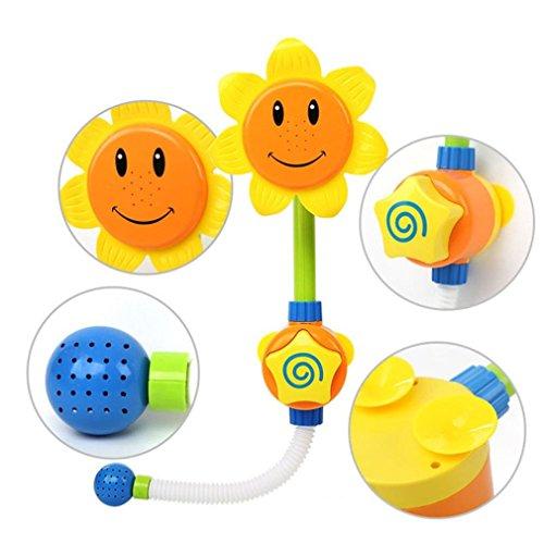 Omiky® Baby Bad Sonnenblume Wasser Dusche Spray Bad Wanne Brunnen Spielzeug Für Kinder (Gelb) (Bad Spielzeug Brunnen)