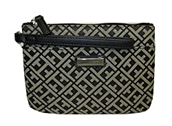 Tommy Hilfiger Wristlet Canvas Womens Wallet Bag(Black, Cream)