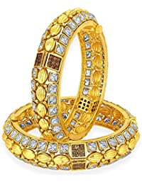 Sukkhi Excellent Gold Plated American Diamond Bangle For Women