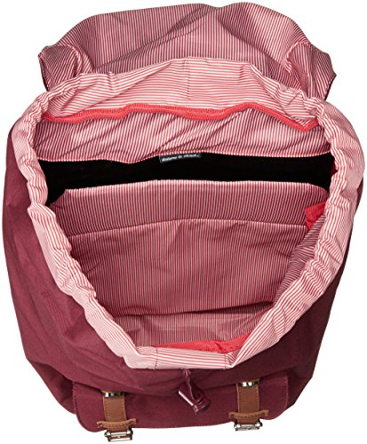 Little America Backpack Windsor Wine/Tan Synthetic Leather Backp