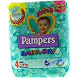 Pampers Baby Dry, 19 Pannolini, Taglia 4 (7-18 kg)