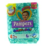 Pampers - Baby Dry - Pañales - Talla 4 (7 - 18 kg) - 19 pañales