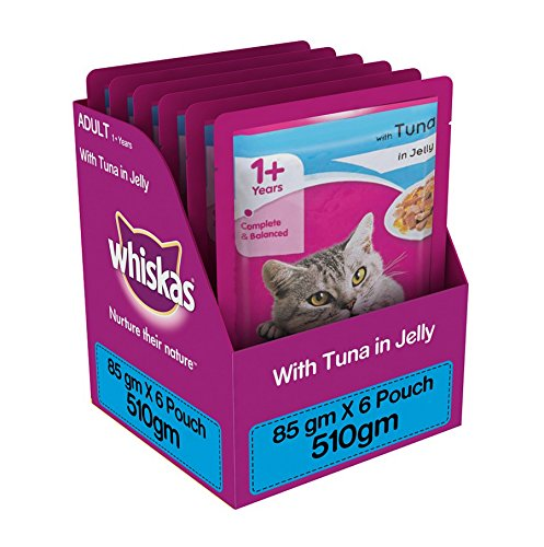 Whiskas Wet Meal Adult Cat Food, Tuna in Jelly