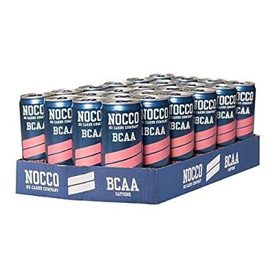 NOCCO BCAA Energy Drink 24 x 330 ml, 180 mg Caffein by NOCCO