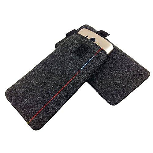 5,0'' Filztasche Tasche Hülle aus Filz für Sony X Compact X Performance XA E5 M5 LG K4 2017 K8 2017 Lenovo Moto G4 Play K6 P2 C2 Samsung J1 (2016) J3 (2016) A3 (2017) Huawei nova HTC A9 Alcatel X1 Pop Melange Schwarz