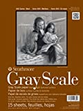 """Strathmore STR-4400-018 15 Sheet No.80 Gray Scale Pad, 18 by 24"""""""