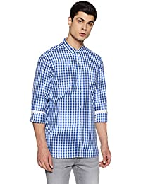 French Connection Men's Checkered Slim Fit Casual Shirt