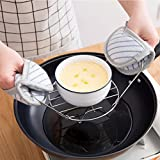 Steamer Rack Trivet with Handles for Instant Pot and Other Electric Pressure Cookers 3 Qt 5 Qt 6 Qt (Small)
