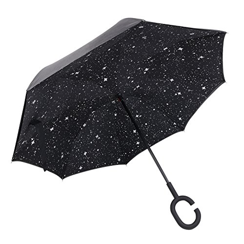 CONMING antivento invertito ombrello protezione UV Double Layer Reverse Umbrella