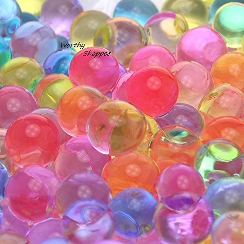Worthy Shoppee Colorful Magic Crystal Water Jelly Mud Soil Beads Balls-Mixed Color;5 Bag