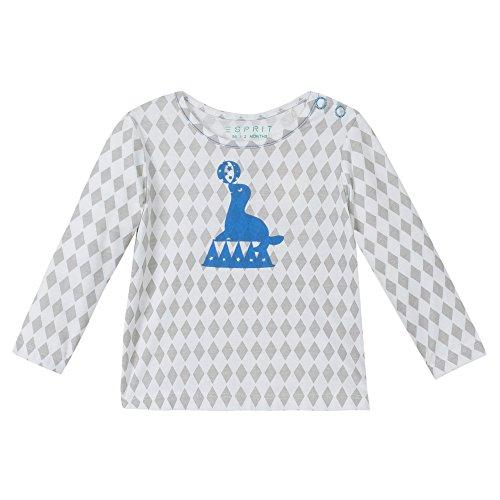 Esprit Kids Unisex Baby T-Shirt RI1003A, Blau (Hellblau 440), 68