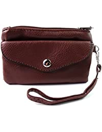 New Ladies Girls Super Soft Purse Handbag PU Leather Coin Pouch Credit Card Holder Wrist Strap Wallet