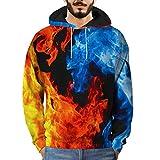 Qinsling Uomo Felpa con Cappuccio Graffiti 3D Sweatshirt con A Maglione con Cappucciotaglio Classico Felpa A Manica Lunga da Uomo Pullover Jogging Felpa Cappotto Giacca Outwear