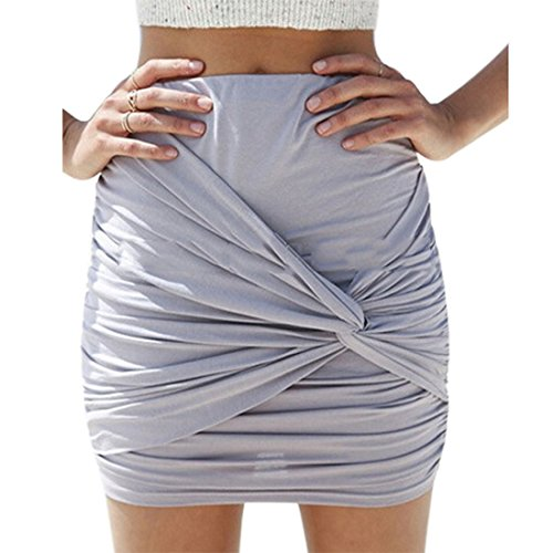 Vertvie-Damen-Mini-Skirt-Business-Pencil-Rock-Kleid-Bodycon-Wickeln-Stretch-Bleistiftrock-Knielang-Bleistiftrcke-Kurz-Hohe-taille-Abendrock-mit-Falten