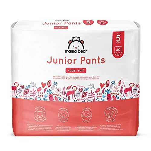 Marque Amazon - Mama Bear Couches-culottes Junior - Taille 5 (13-20kg), Lot de 2 (2x40)
