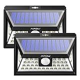 [2 Pezzi] Lampada Solare Mpow 40 LED Luce Solare, 3 Modalità e 120 ° Rilevamento con Grande Pannello Solare, Luce Solare Esterna Impermeabile IP65, per Giardino, Vialetto, Cantiere, Garage, Percorso e Patio