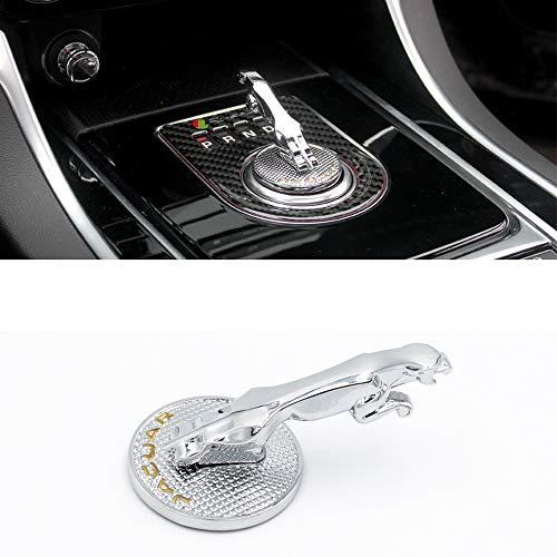 YYD Auto-Innendekoration-Ordnungs-Schaltknauf-Abdeckungsdekoration, Autozubehör für Jaguar,3dknob