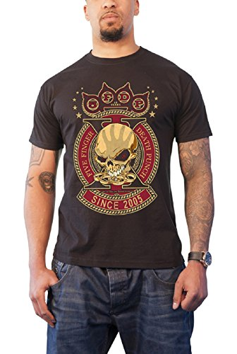 Five Finger Death Punch - Top - Maniche corte - Uomo nero X-Large