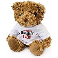 London Teddy Bears Oso de Peluche, diseño de la Mejor Secretaria de Ever – Bonito y Suave Peluche – Regalo de cumpleaños, Navidad